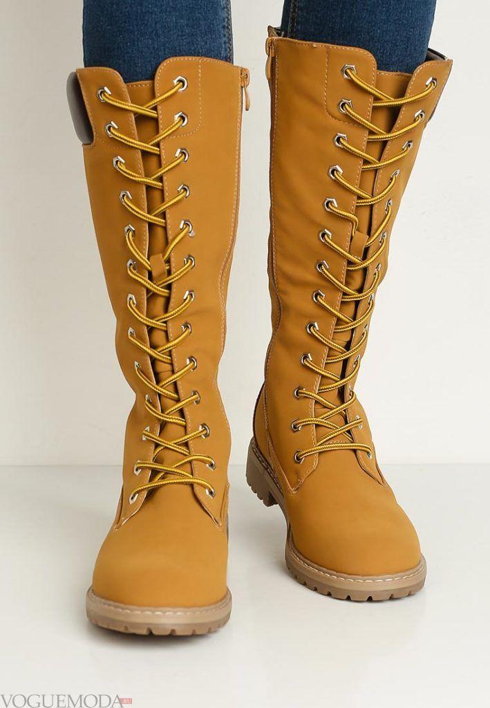 ботинки до колена