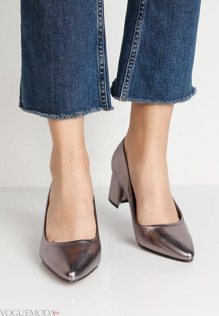 женские туфли серебристый металлик