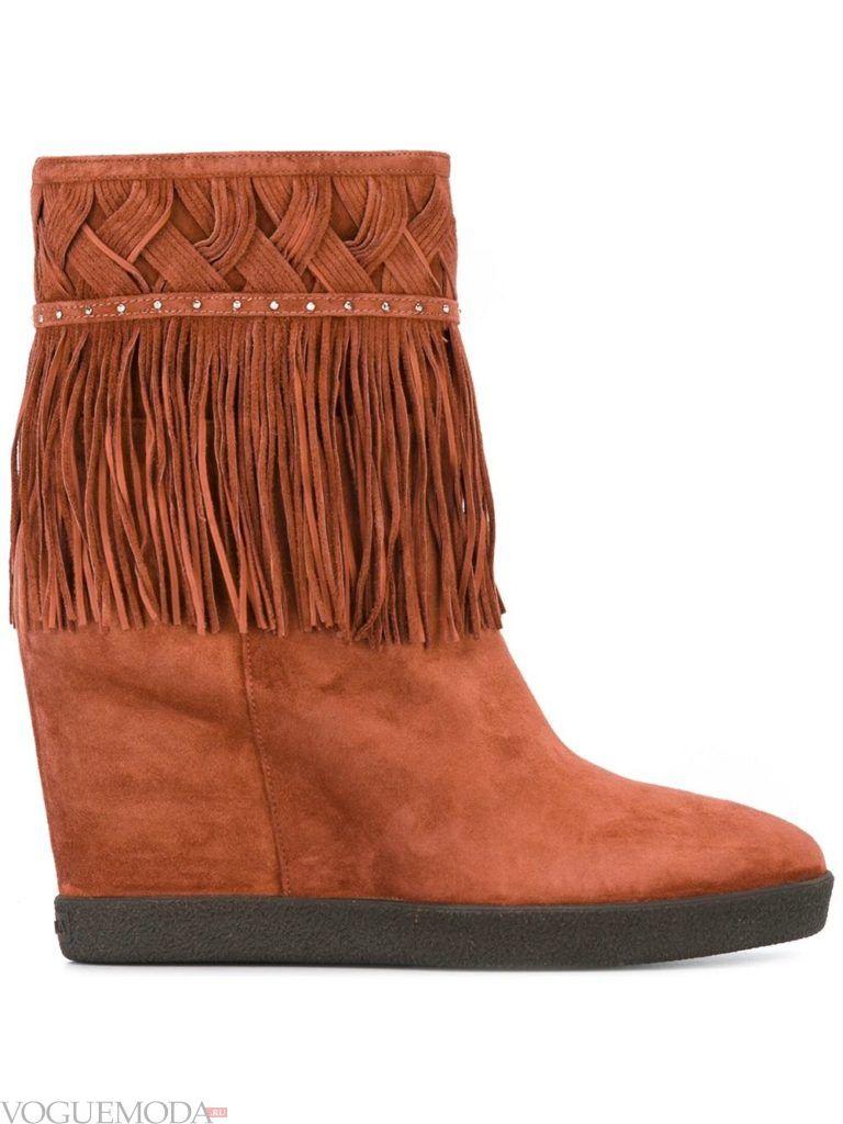 женские рыжие ботинки на платформе