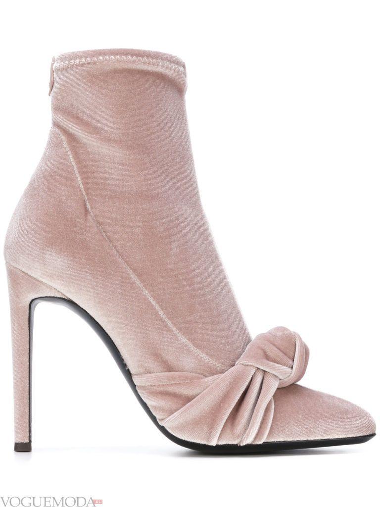 ботинки с острым носком розовые