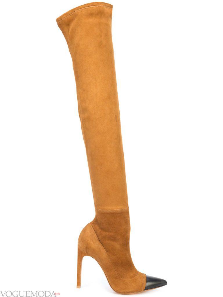 сапоги с острым носком рыжие