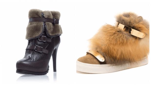 осенняя обувь с мехом