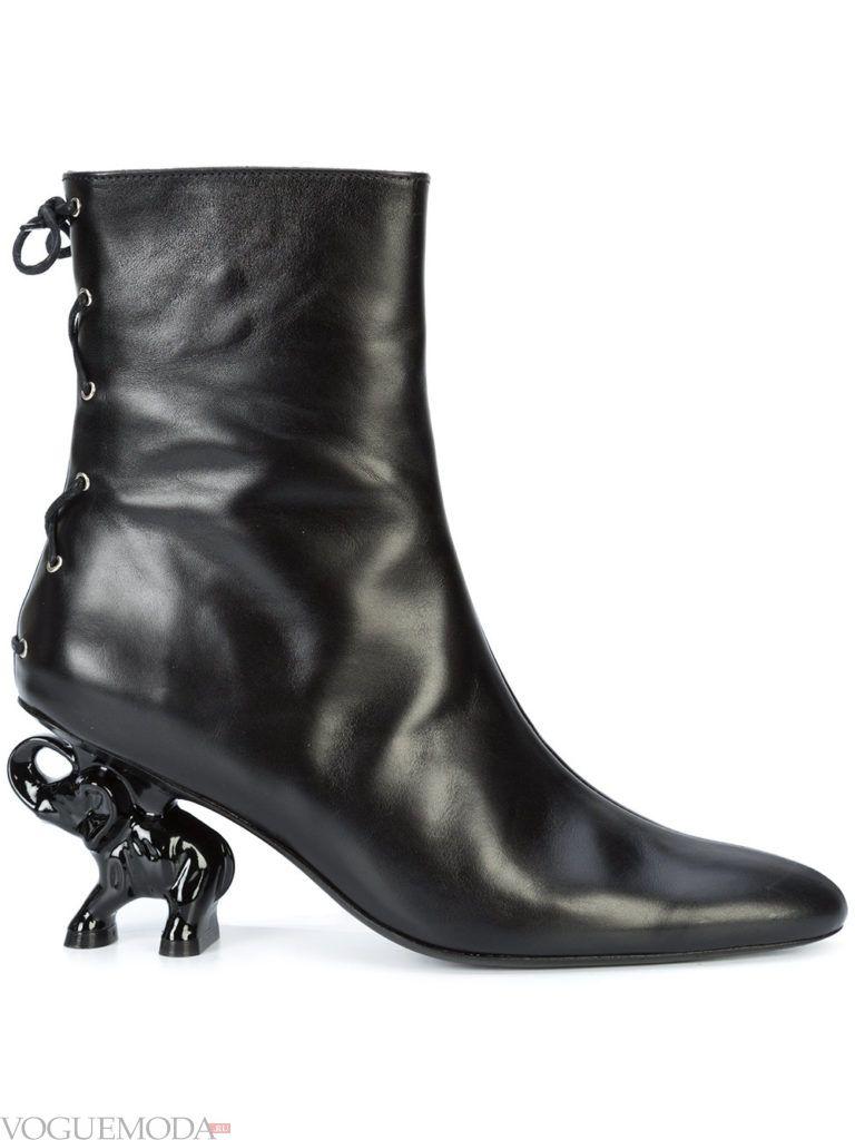ботинки осенние черные