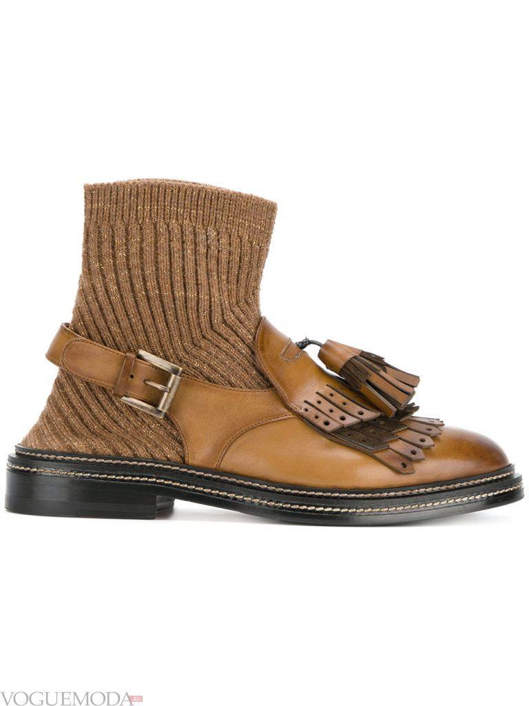 ботинки осенние с декором