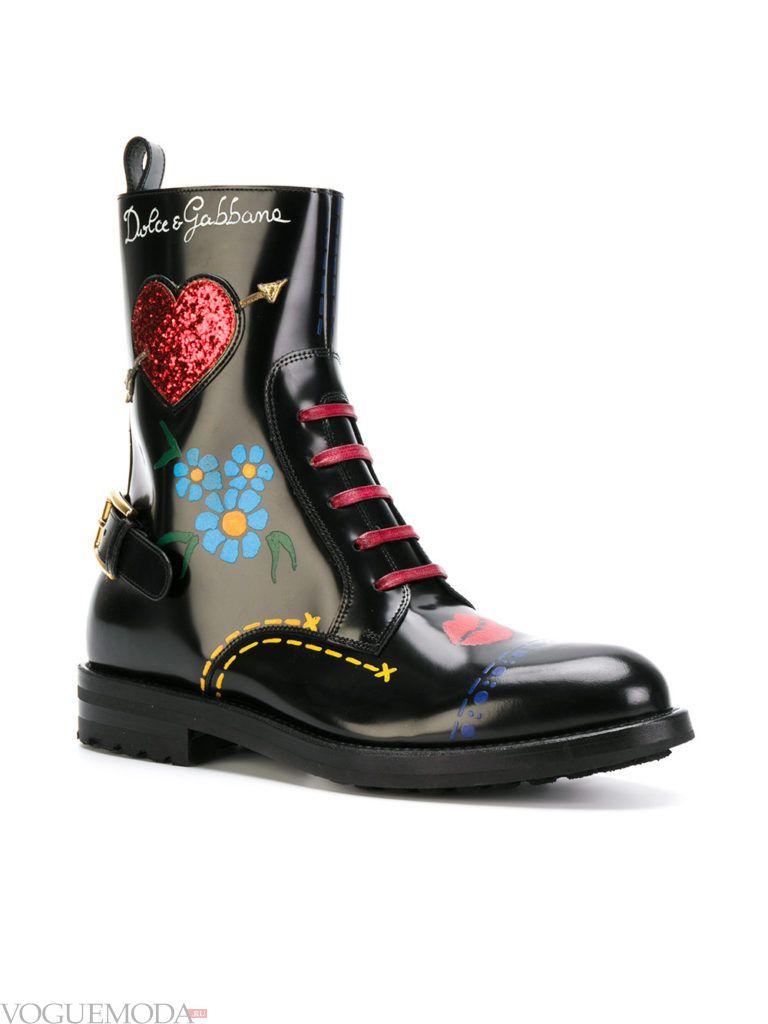 ботинки осенние с рисунком