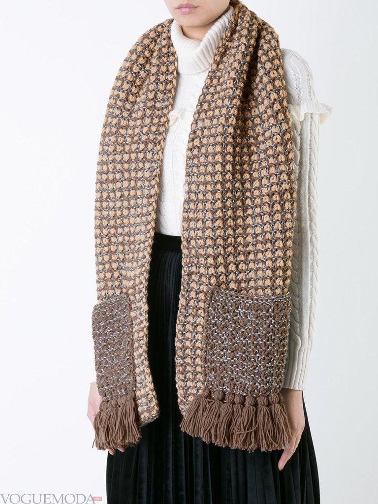 нестандартный шарф с карманами