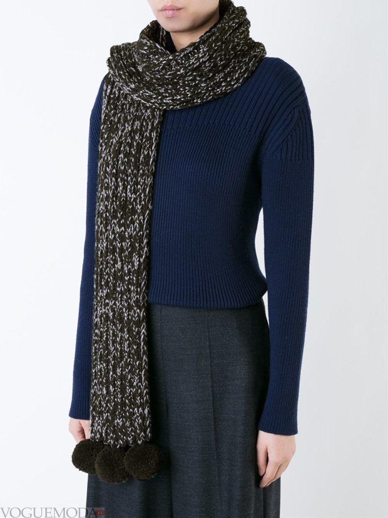 нестандартный шарф с декором