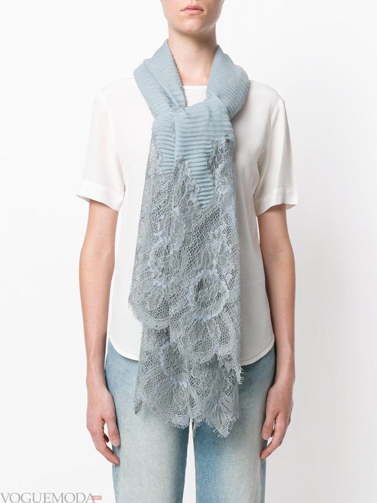 нестандартный шарф серый