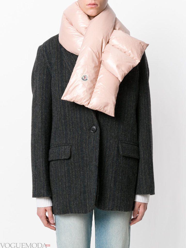 нестандартный шарф розовый