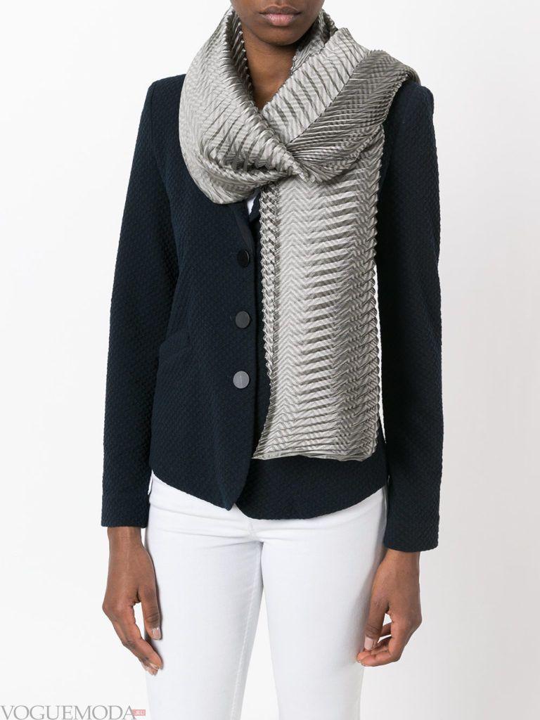 нестандартный шарф гофрированный