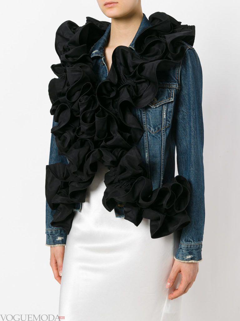 нестандартный шарф рюша