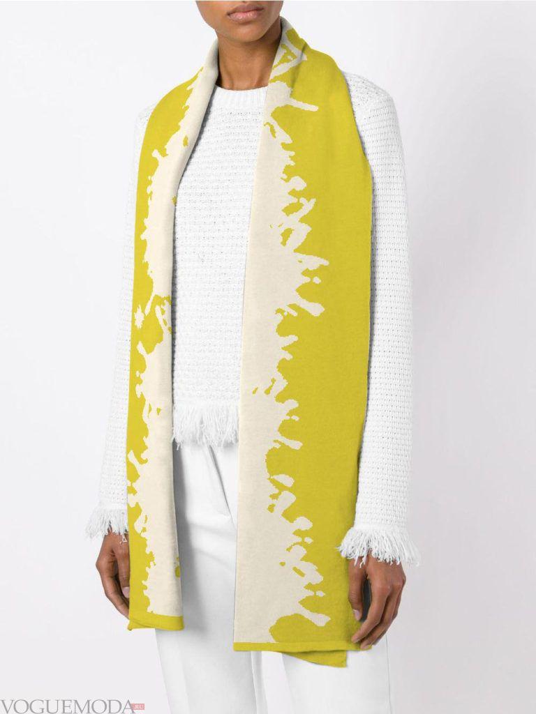 модный шарф двухцветный