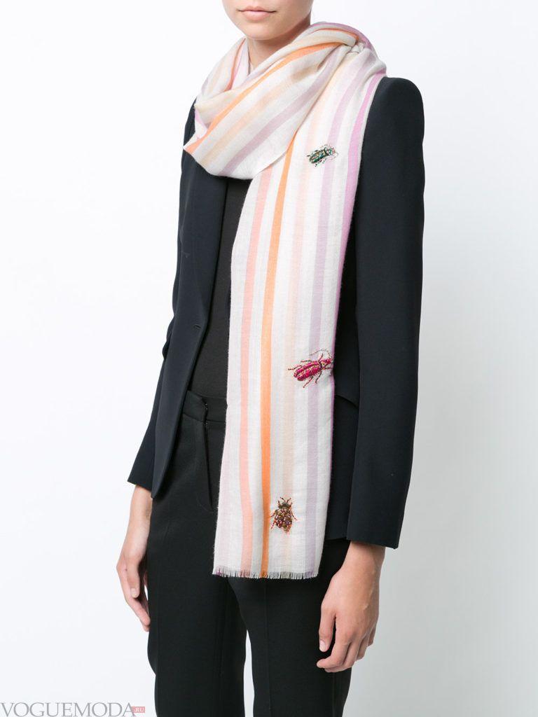 модный шарф белый