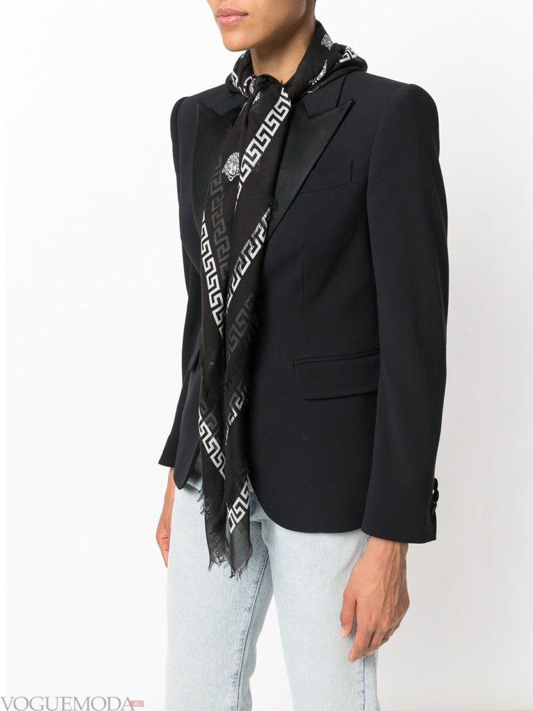 модный шарф черный