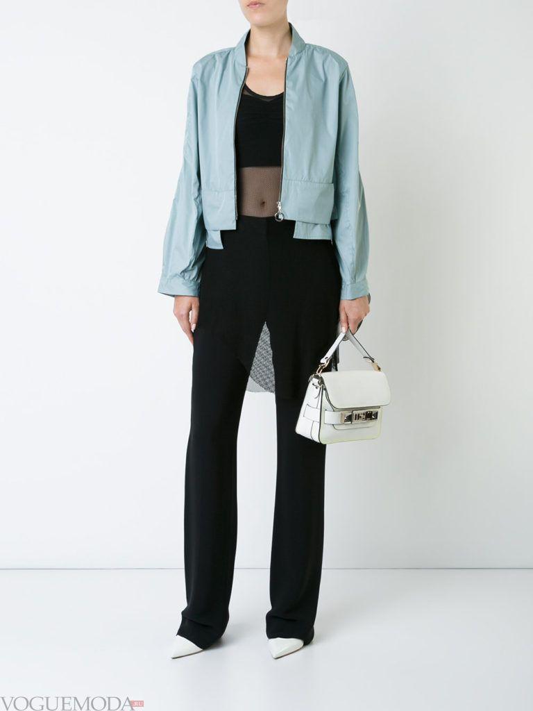 модный пиджак голубого цвета