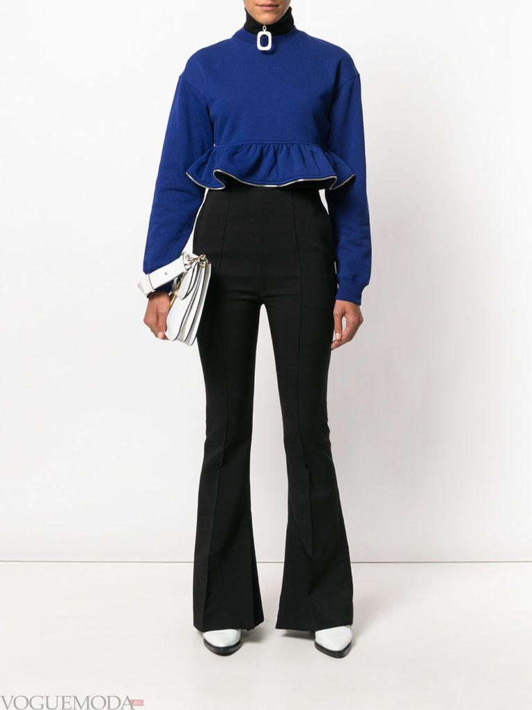 модная блуза синего цвета