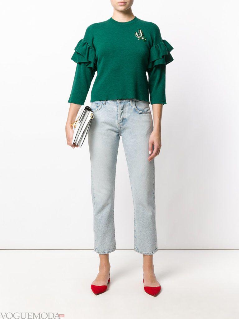модный свитшот зеленого цвета