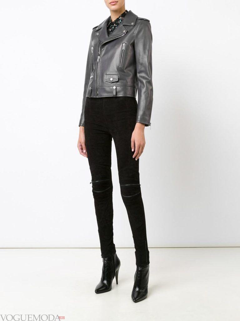 модная куртка серого цвета