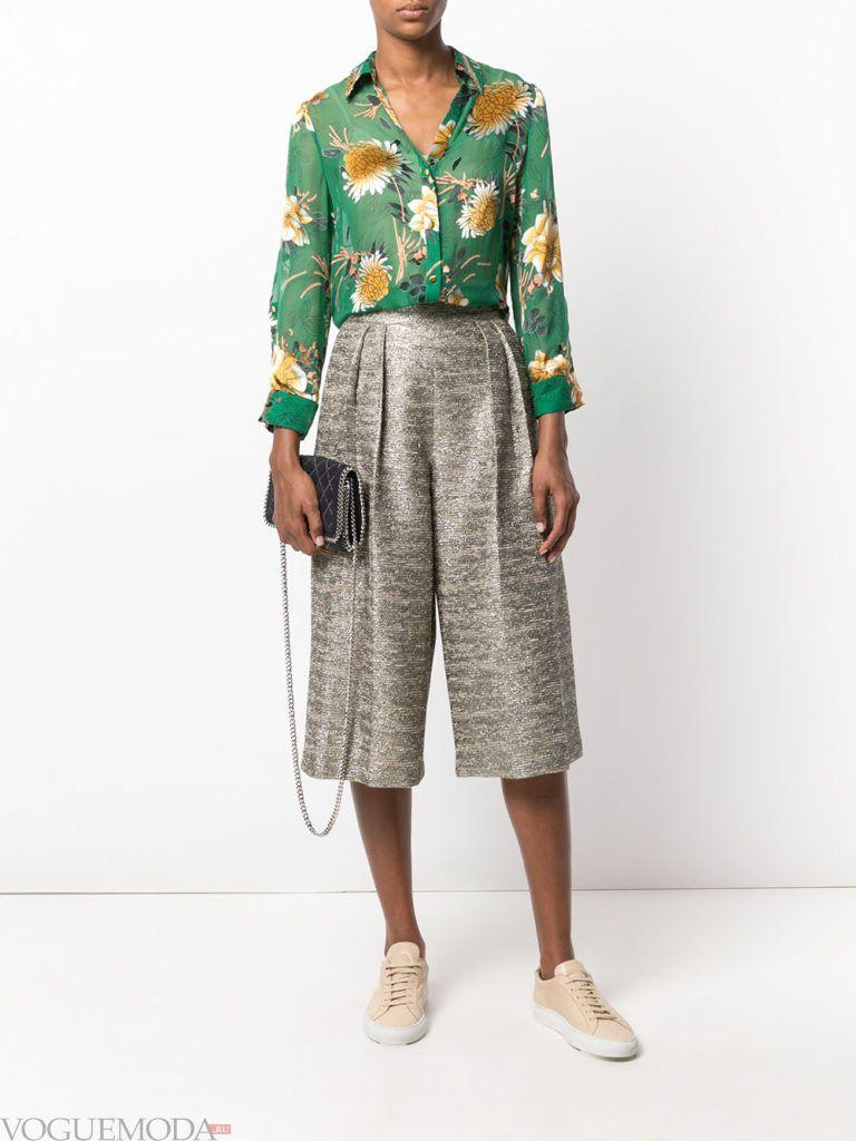 модная блуза зеленого цвета