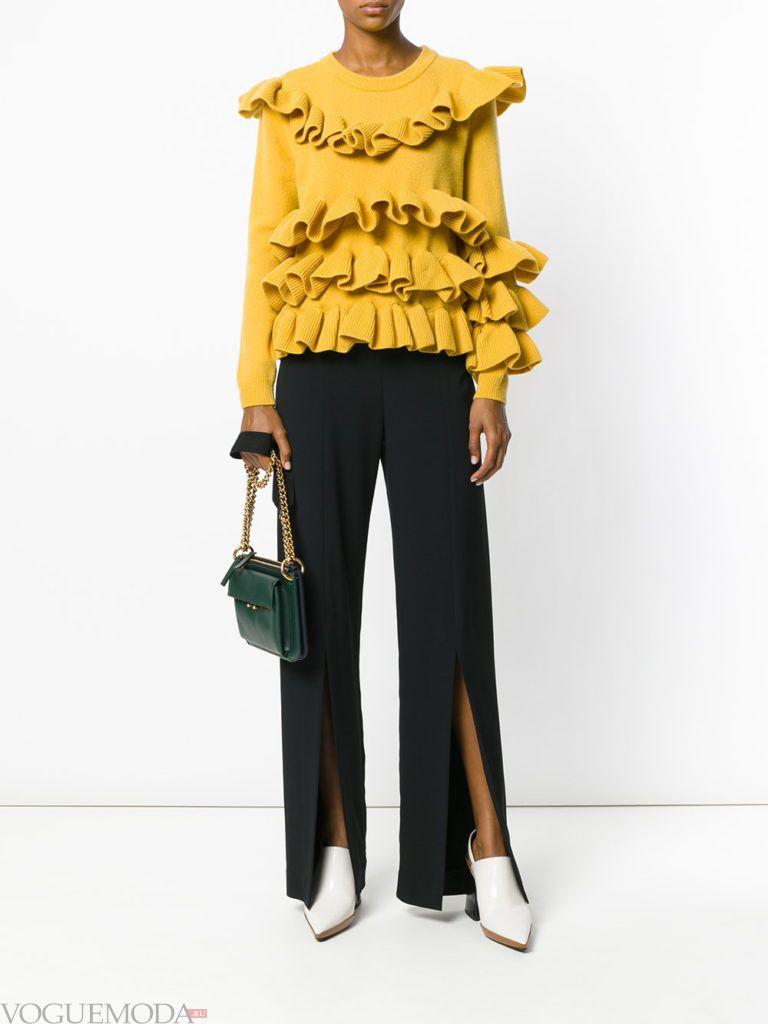 модная кофта желтого цвета