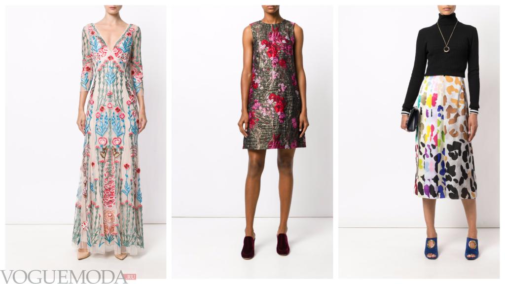 модные разноцветные луки с принтами
