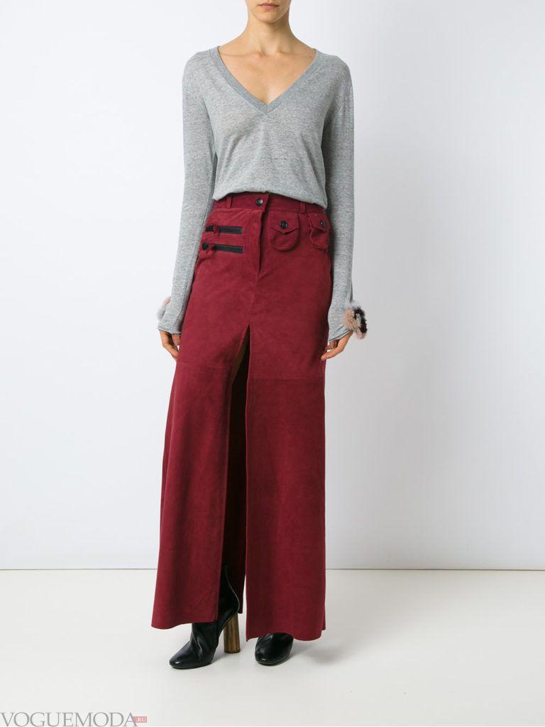 брюки цвета пыльный кедр