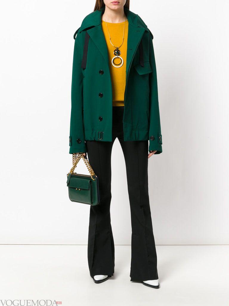 пиджак изумрудного цвета