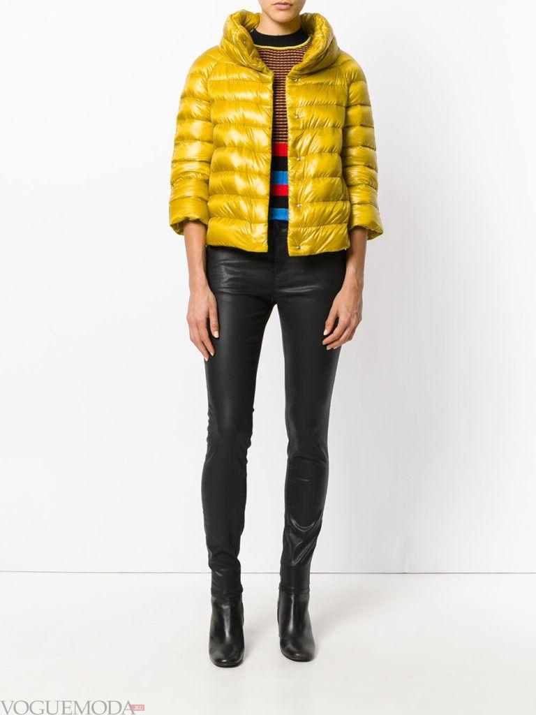 куртка цвета острая горчица