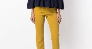 брюки цвета острая горчица