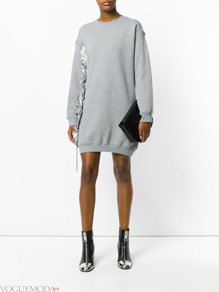 туника цвета холодный серый