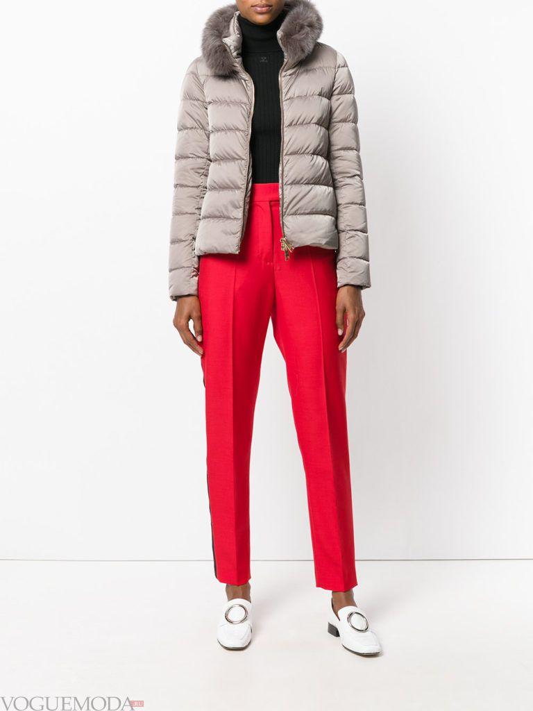 куртка цвета теплый серый