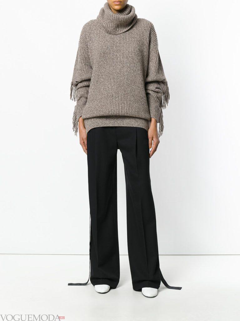 свитер цвета теплый серый