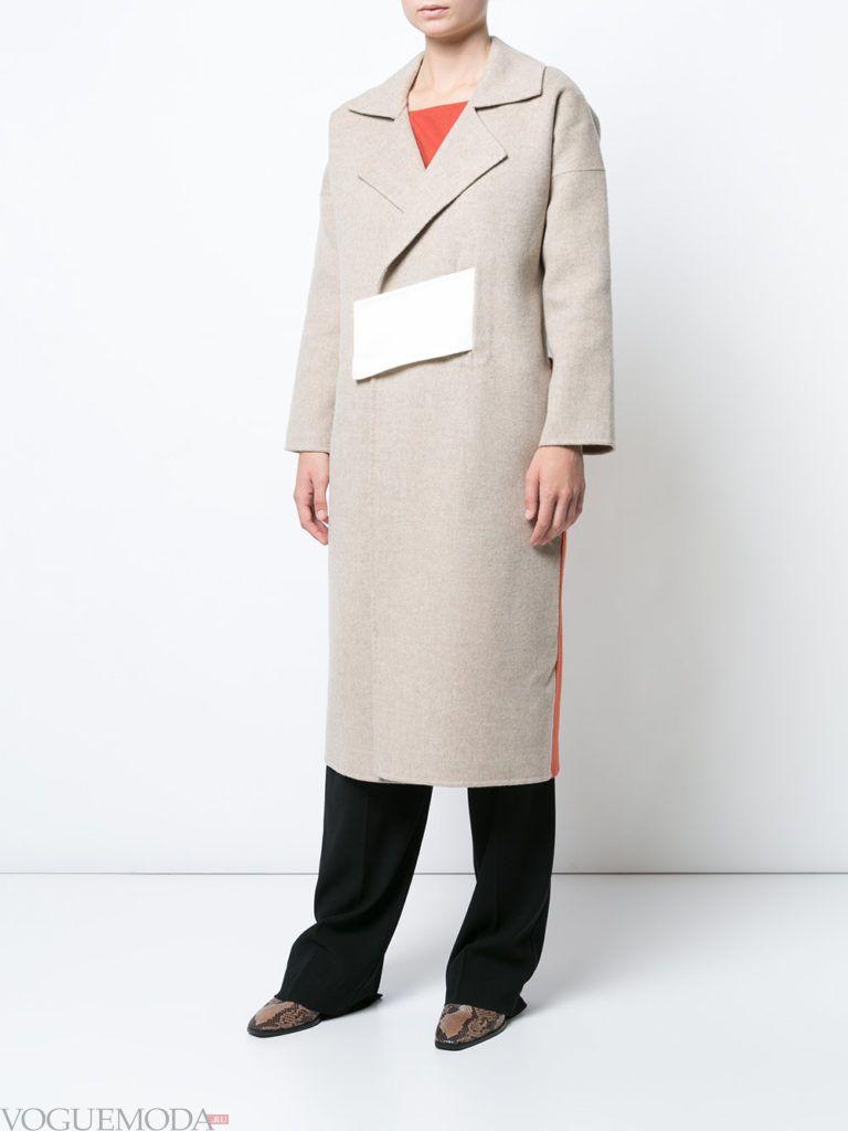 пальто цвета теплый серый