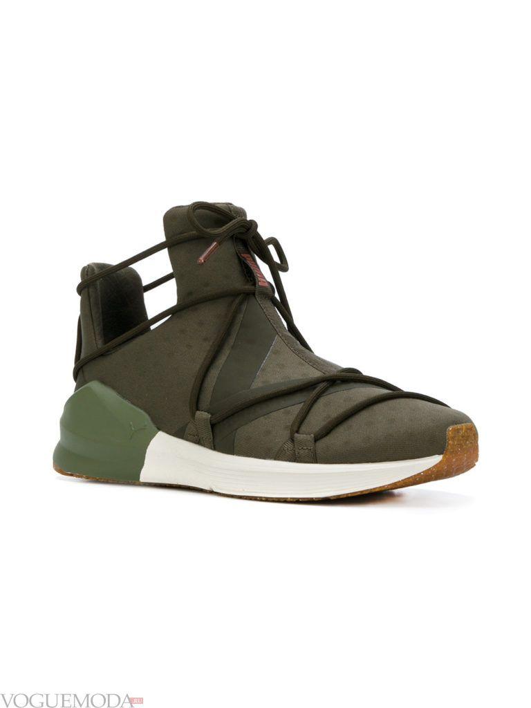 женские кроссовки «Унисекс» зеленые