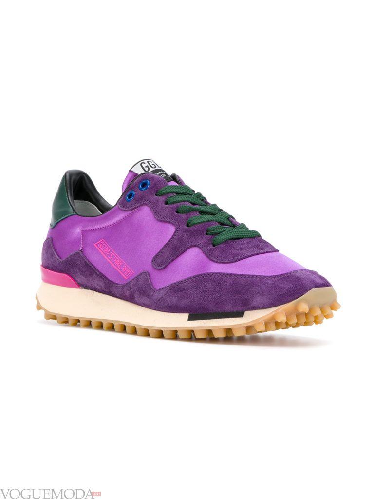 женские фиолетовые кроссовки под платье