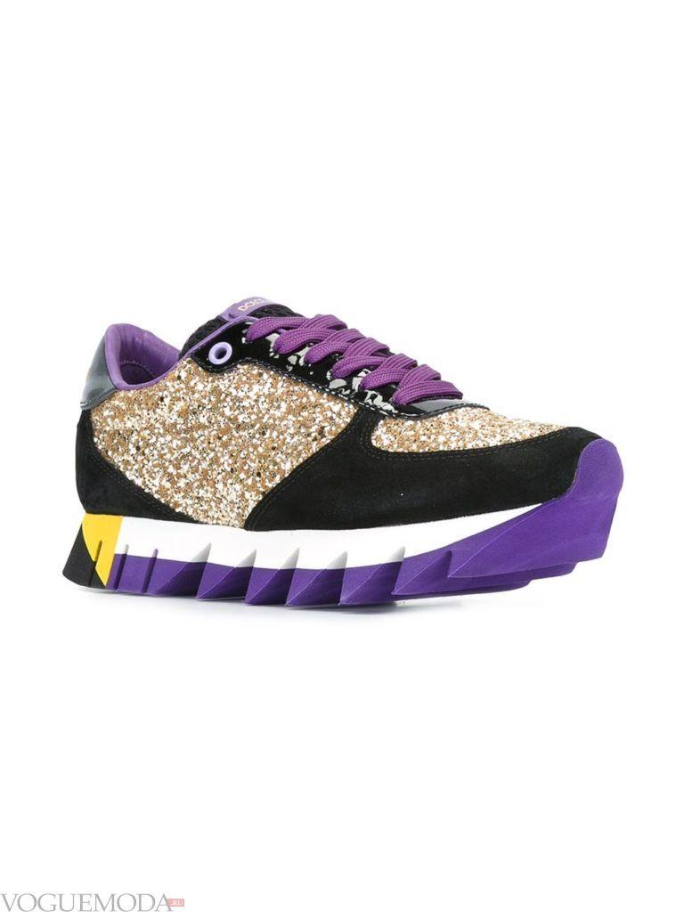женские модные кроссовки яркие