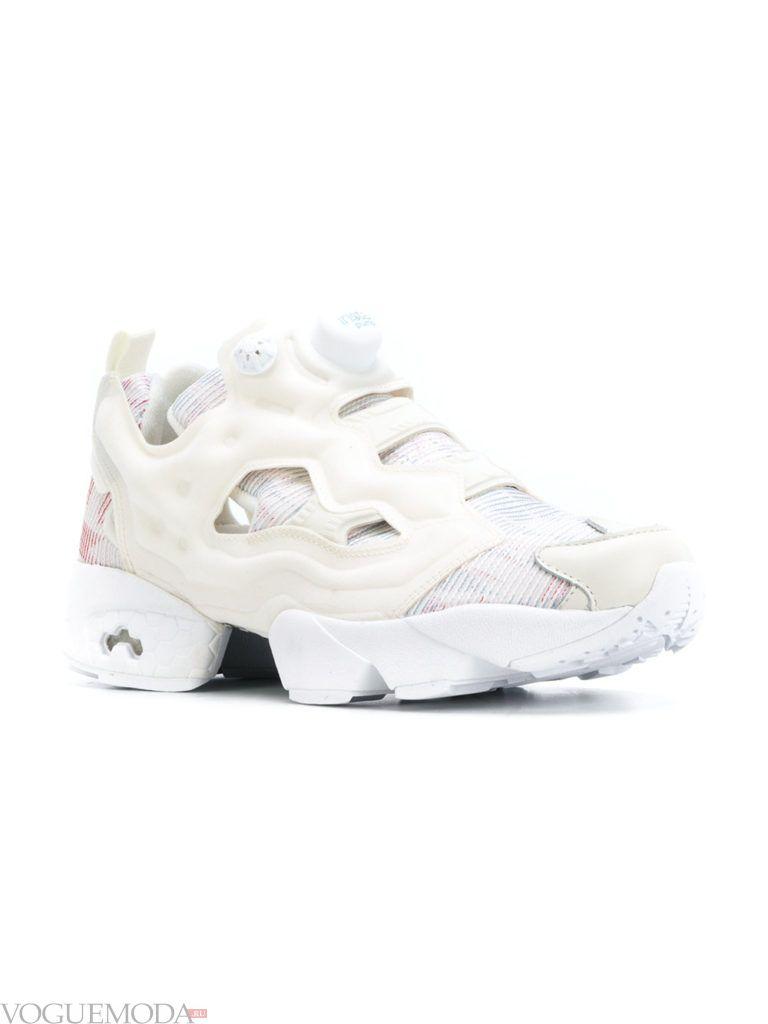 женские белые модные кроссовки