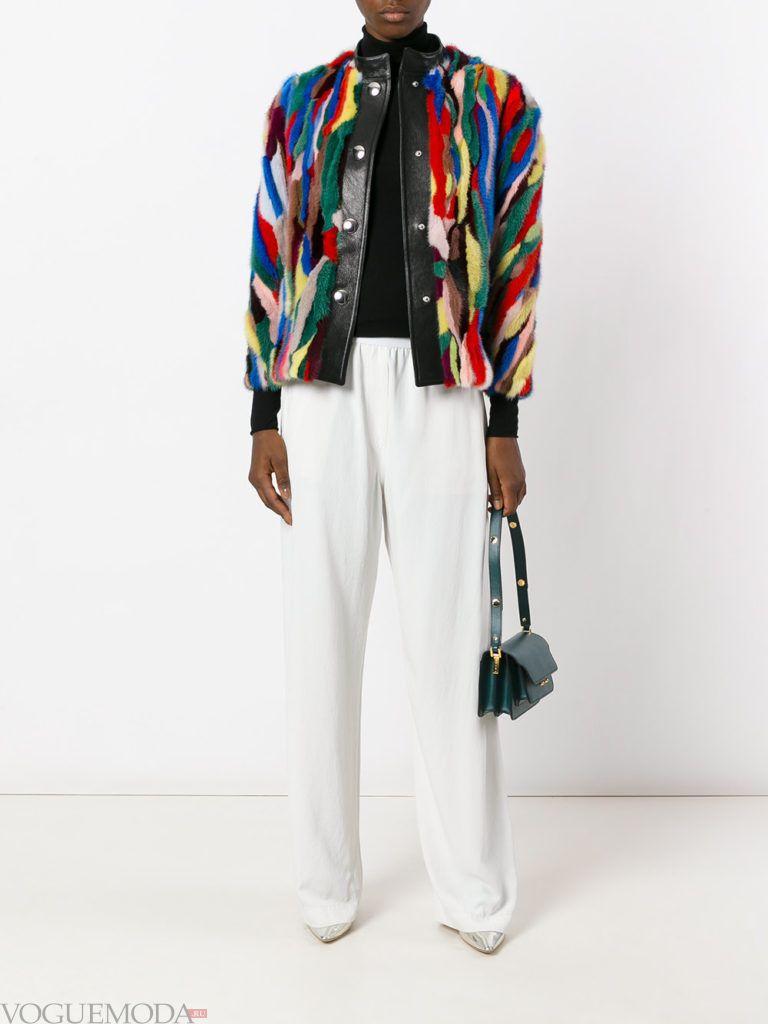 модный лук курточка с мехом