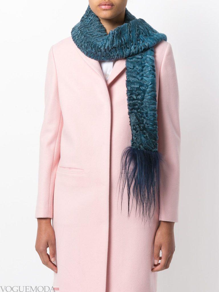 декорированный шарф синий