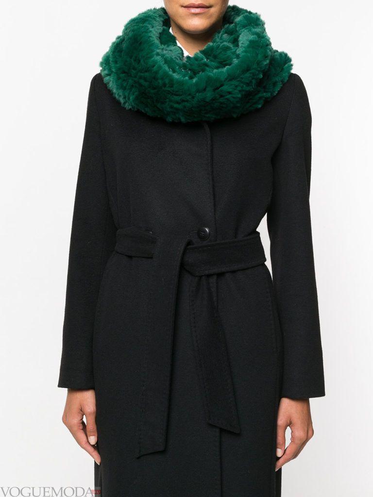 декорированный шарф зеленый
