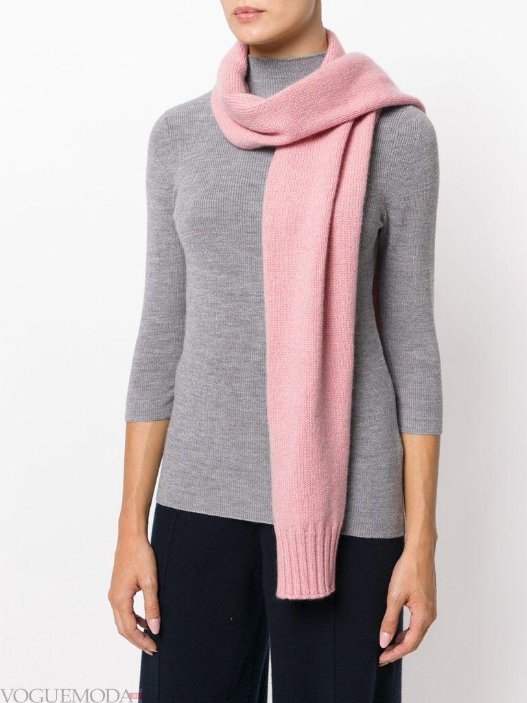 декорированный шарф розовый