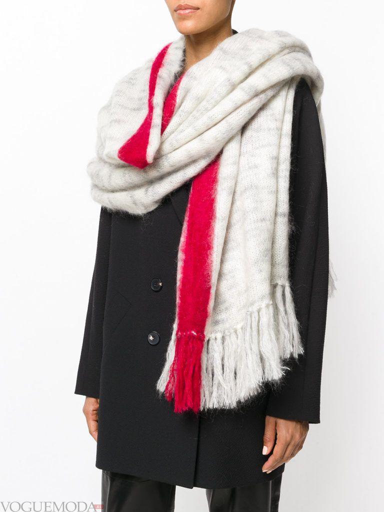 декорированный шарф с полоской