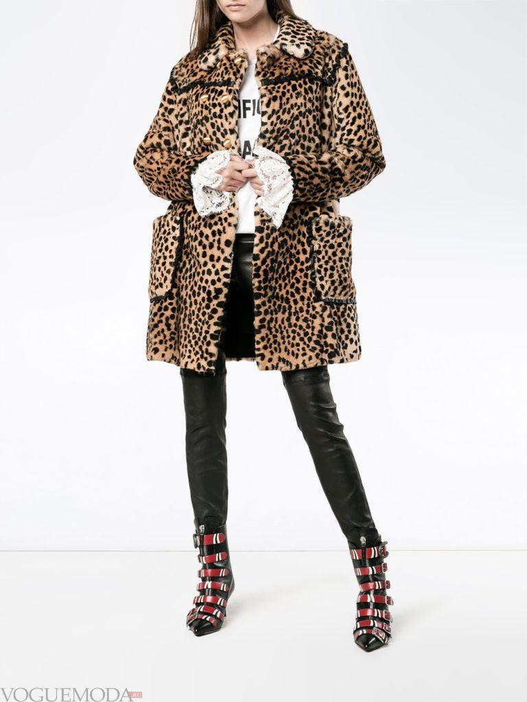 модный лук сафари с пальто