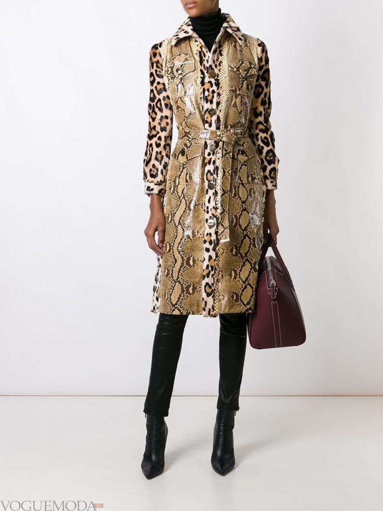 модный лук сафари с длинным пальто