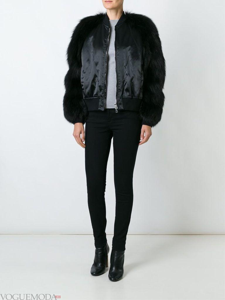модный лук осень зима с курткой