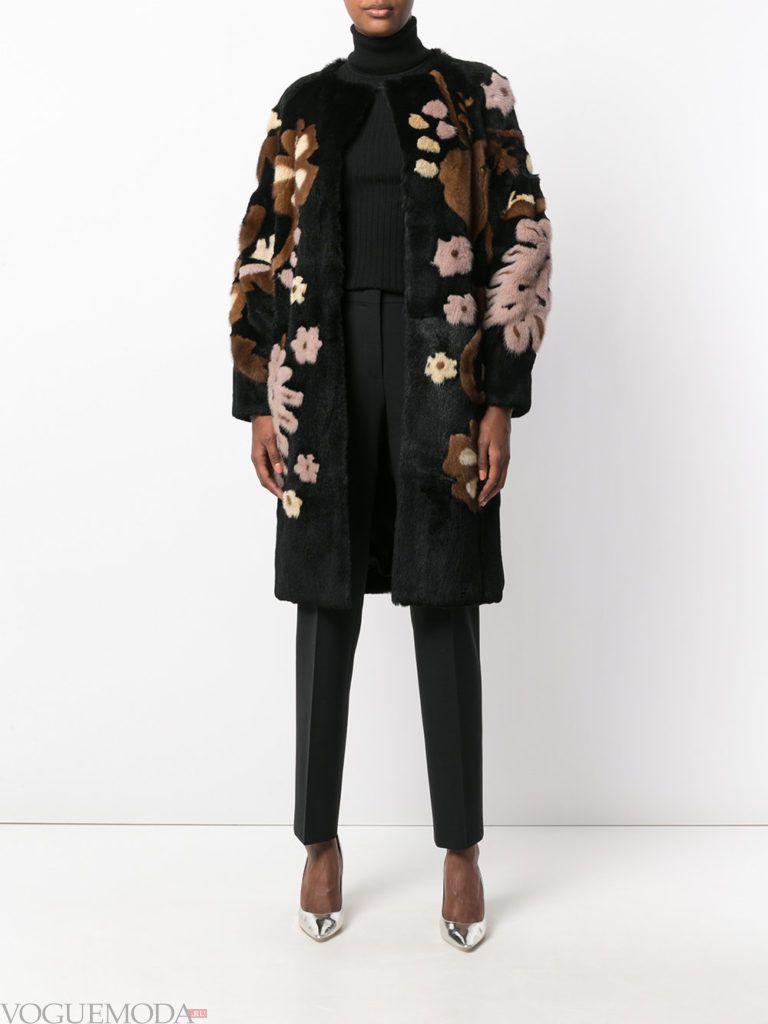 модный лук осень зима с пальто
