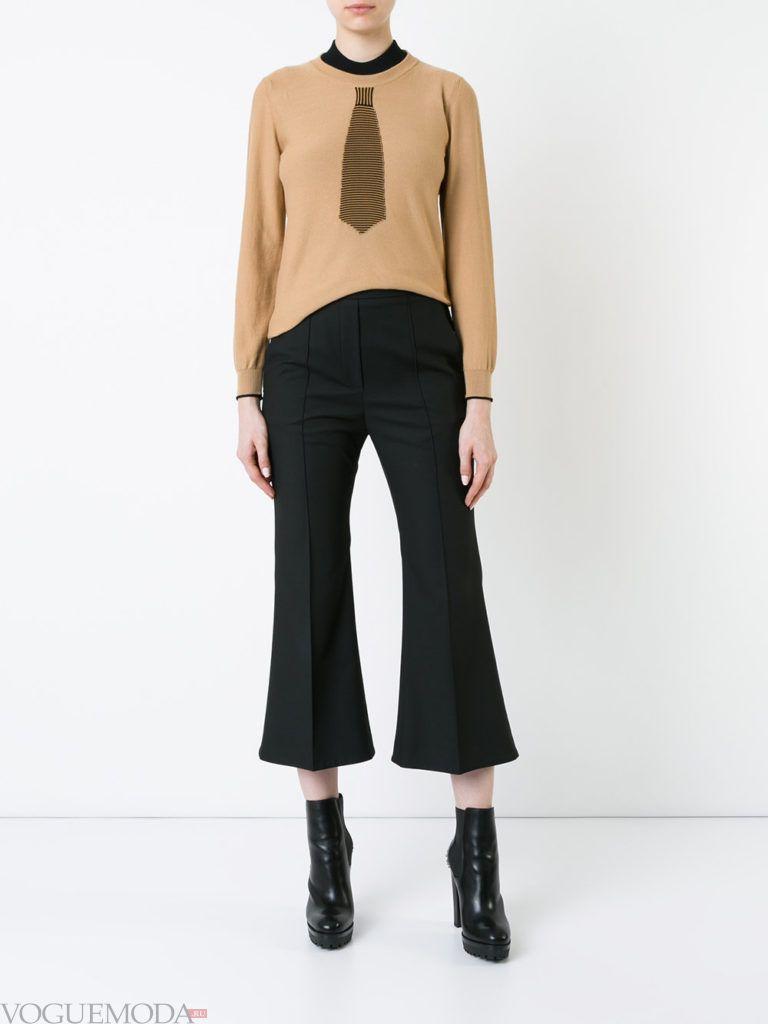 модный лук осень зима с брюками