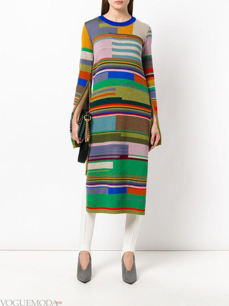 модный лук осень зима с платьем