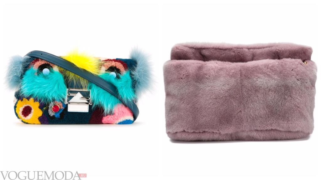 модные сумочки с мехом