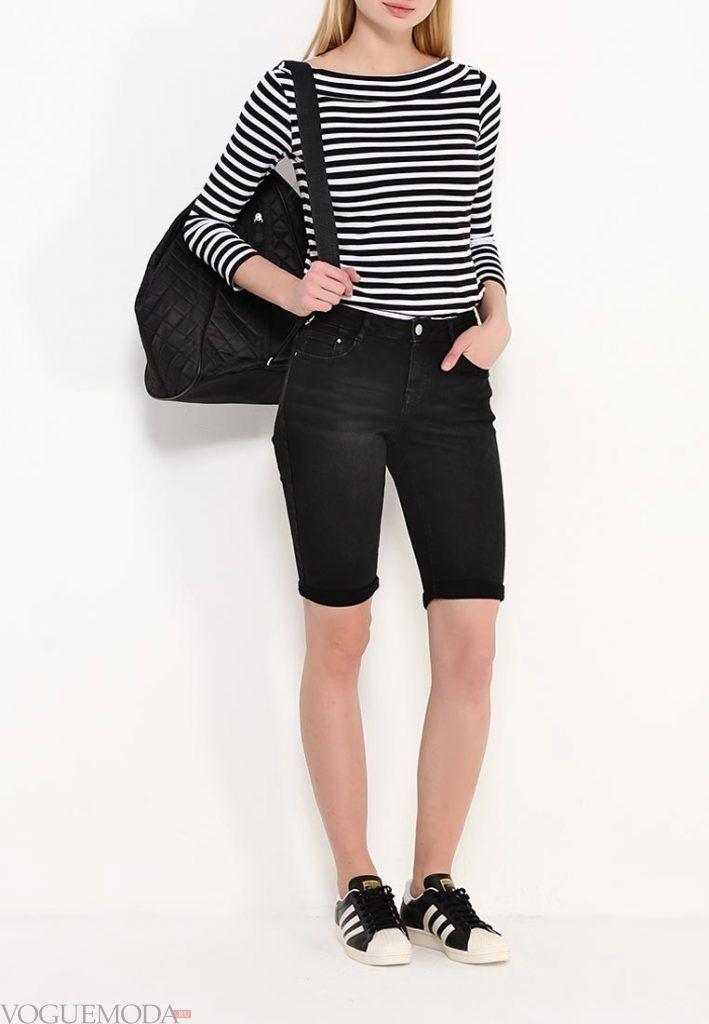 удлиненные шорты черные